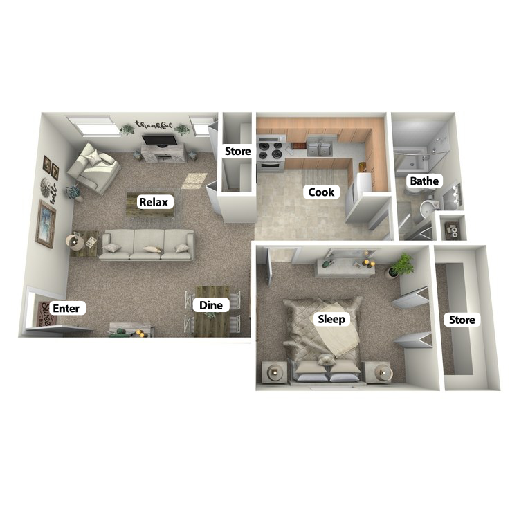 Floor plan image of Garfield Room