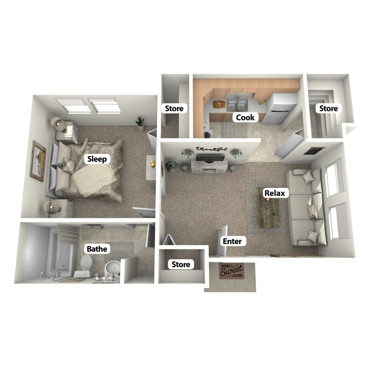 Floor plan image of Monon Room