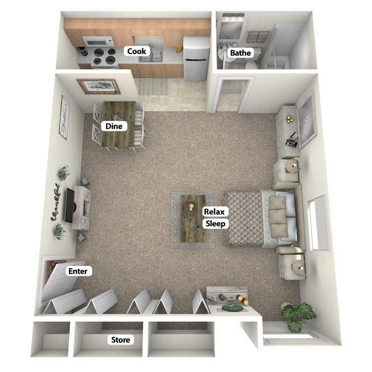 Floor plan image of The Studio