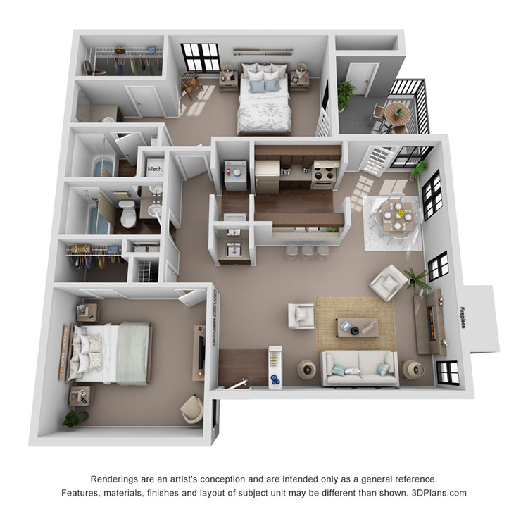 Floor plan image of Florence 1010 sq ft