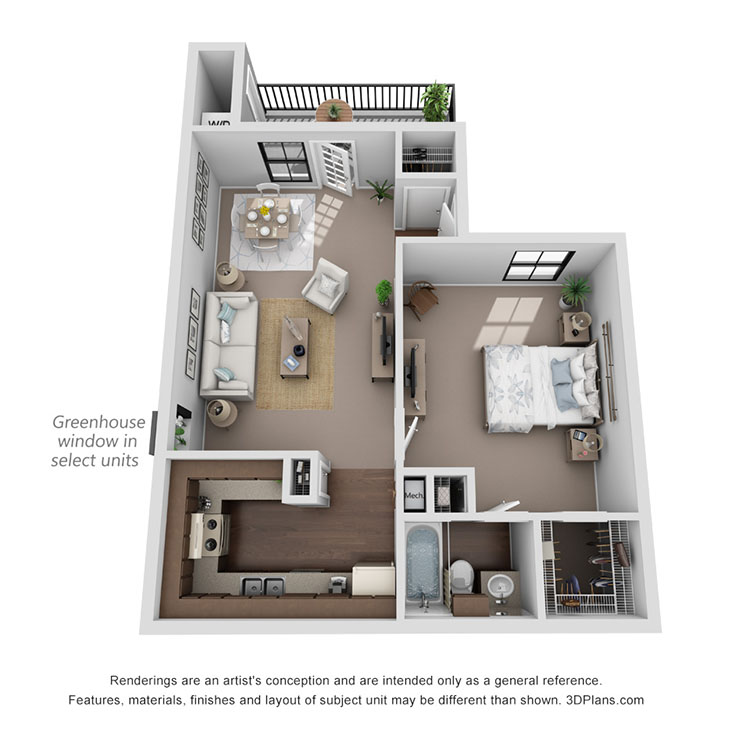 Floor plan image of Naples 561 sq ft