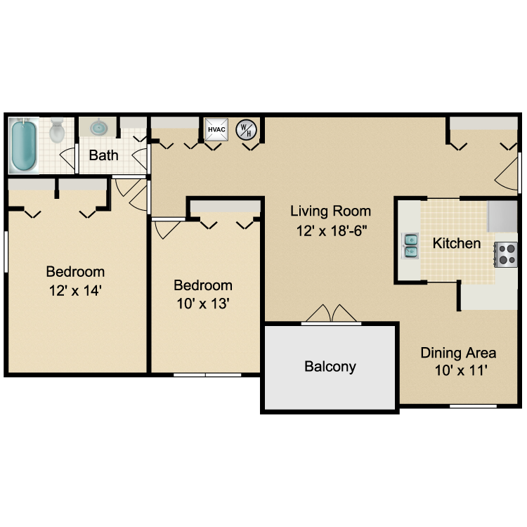 Floor plan image of The Campbell