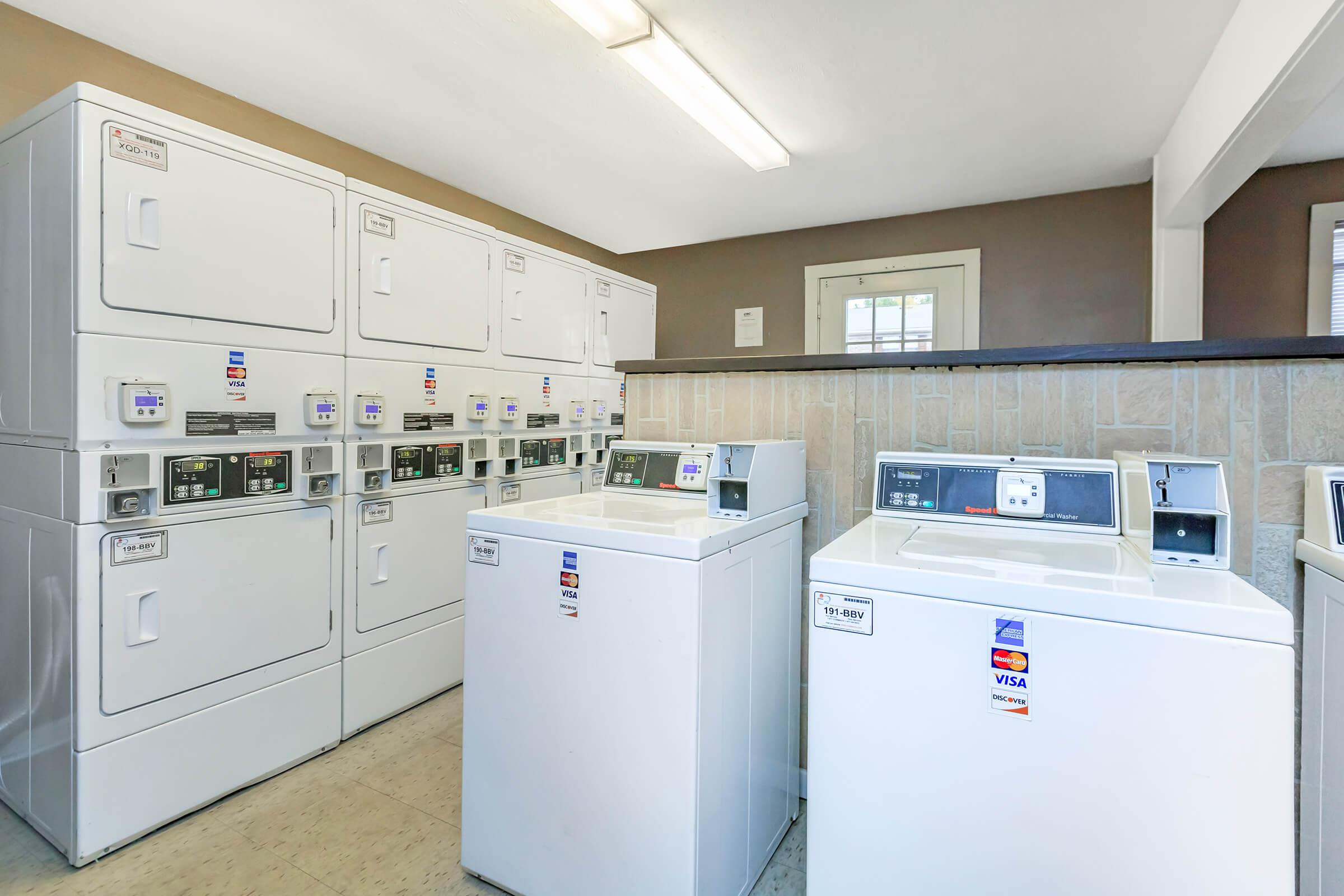 Laundry facility here at Eagles Crest at Jack Miller in Clarksville, TN