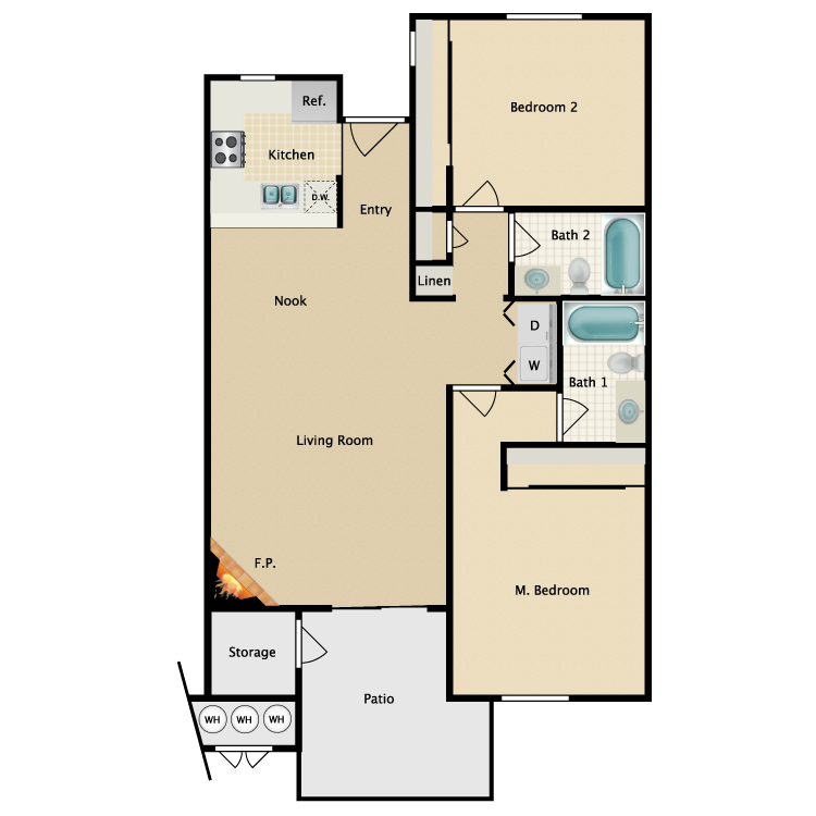 Floor plan image of The Courtney