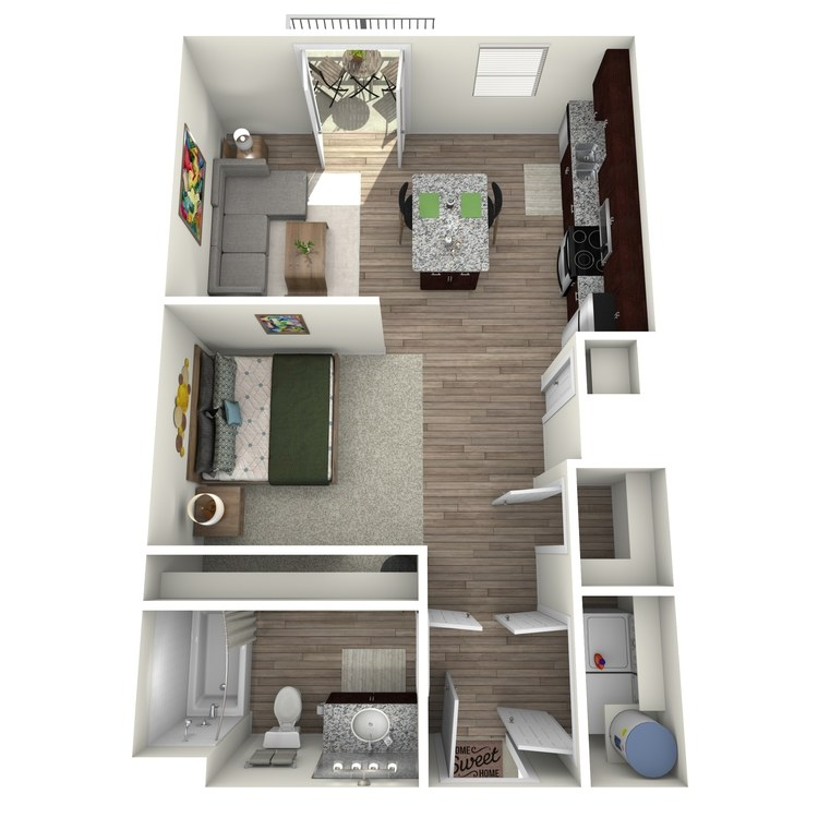 Floor plan image of Studio 3 Highland