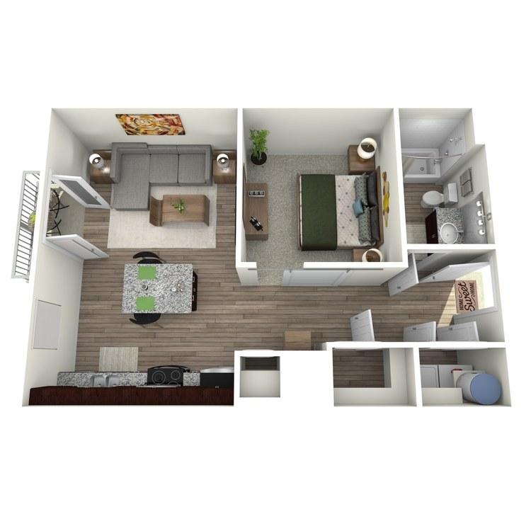 Floor plan image of Studio 1 Highland