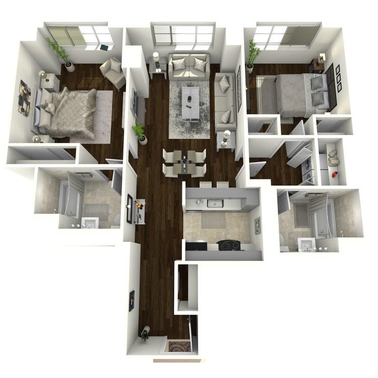 Floor plan image of Roosevelt