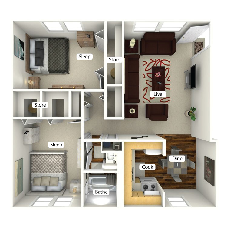 Floor plan image of The Maple