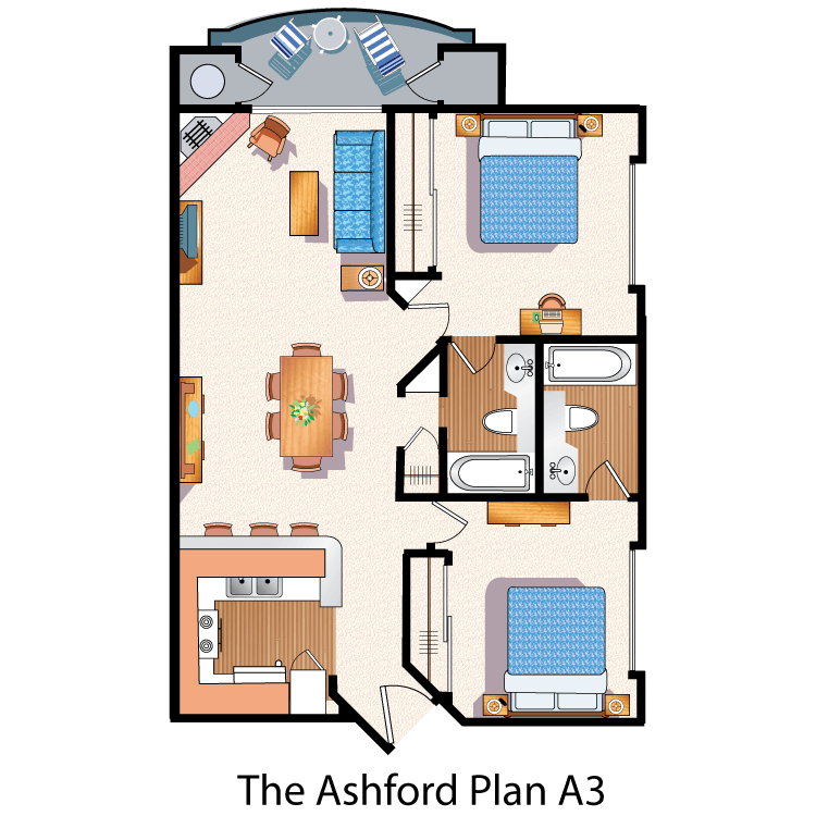 Floor plan image of The Ashford A3
