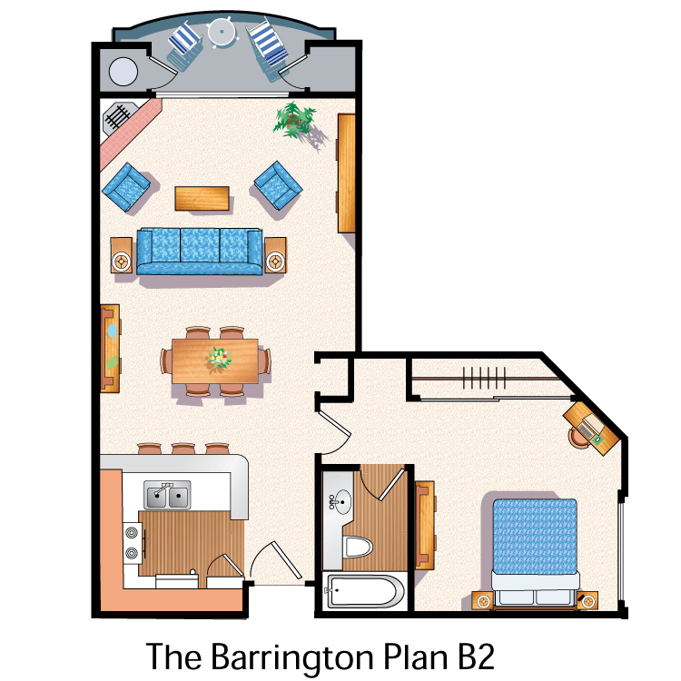 Floor plan image of The Barrington B2