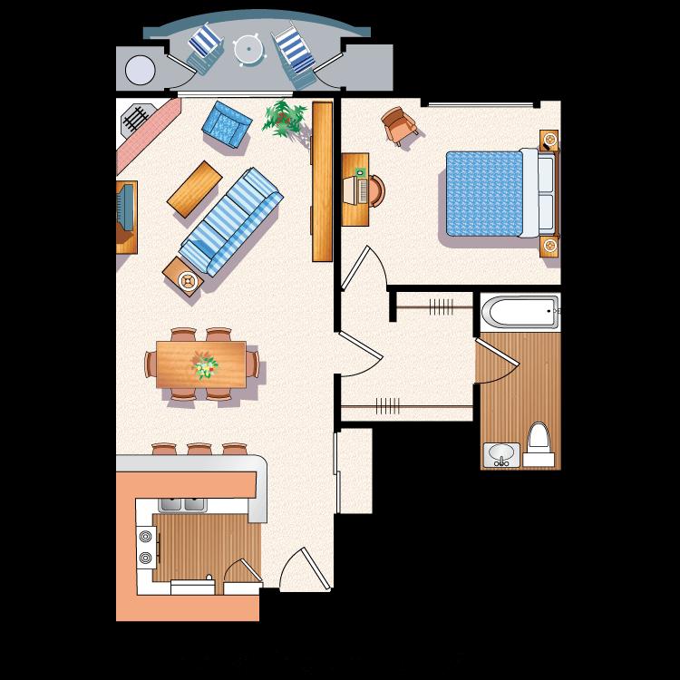 Floor plan image of The Barrington B6