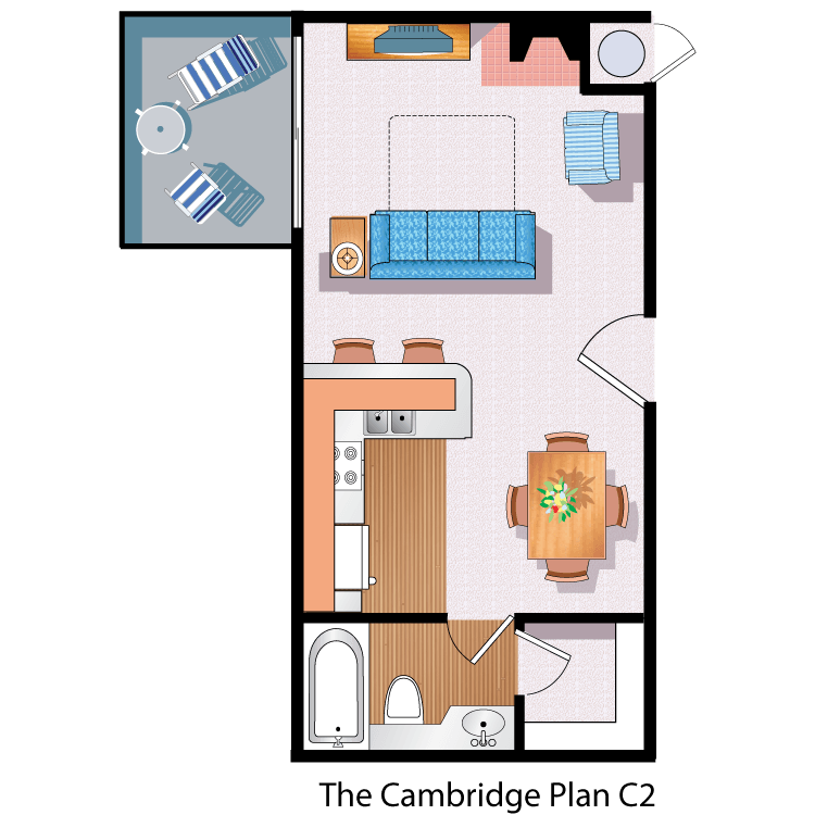 Floor plan image of The Cambridge C2