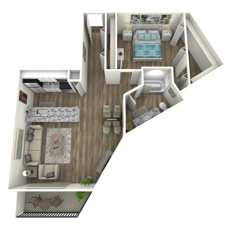 Floor plan image of Brookhaven Contemporary