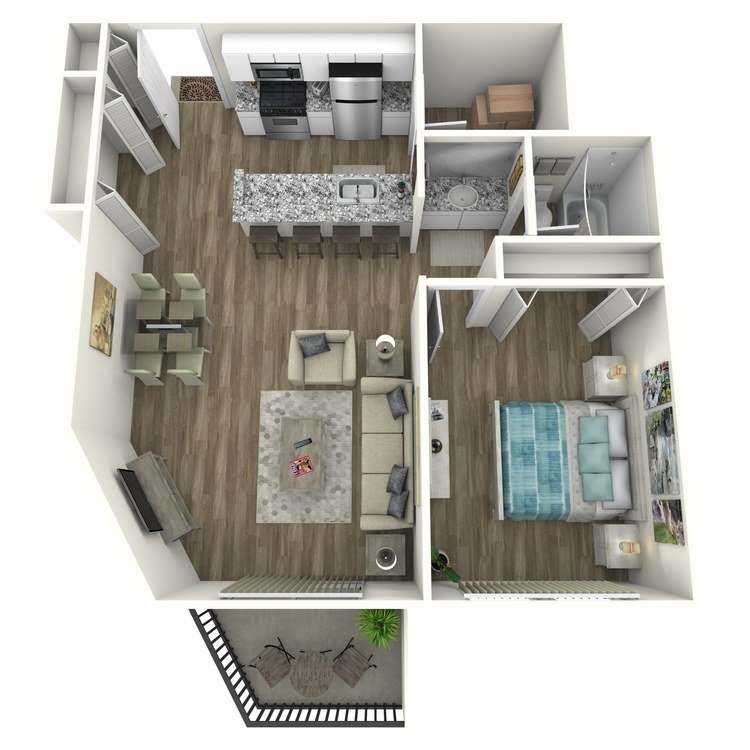 Floor plan image of Downtown Contemporary
