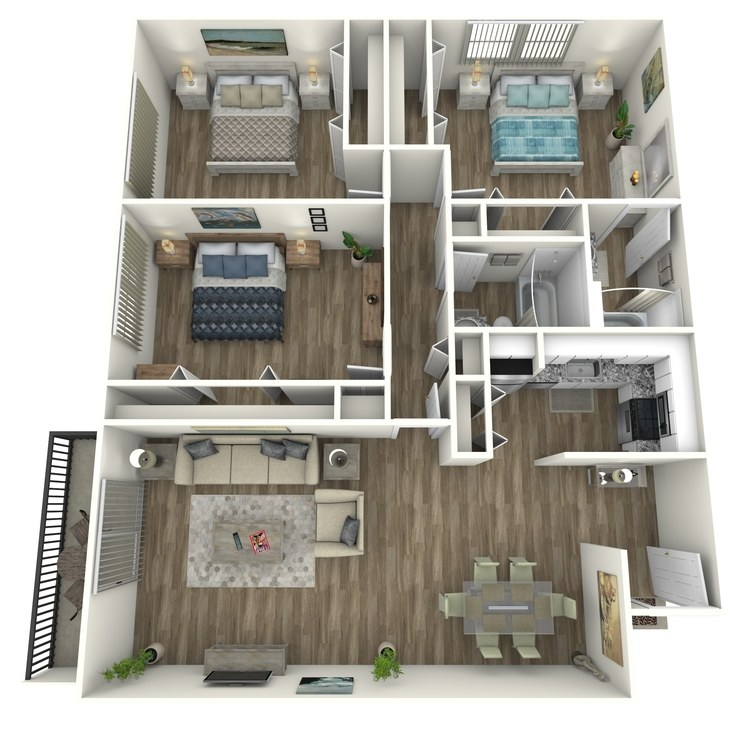 Floor plan image of Piedmont Modern
