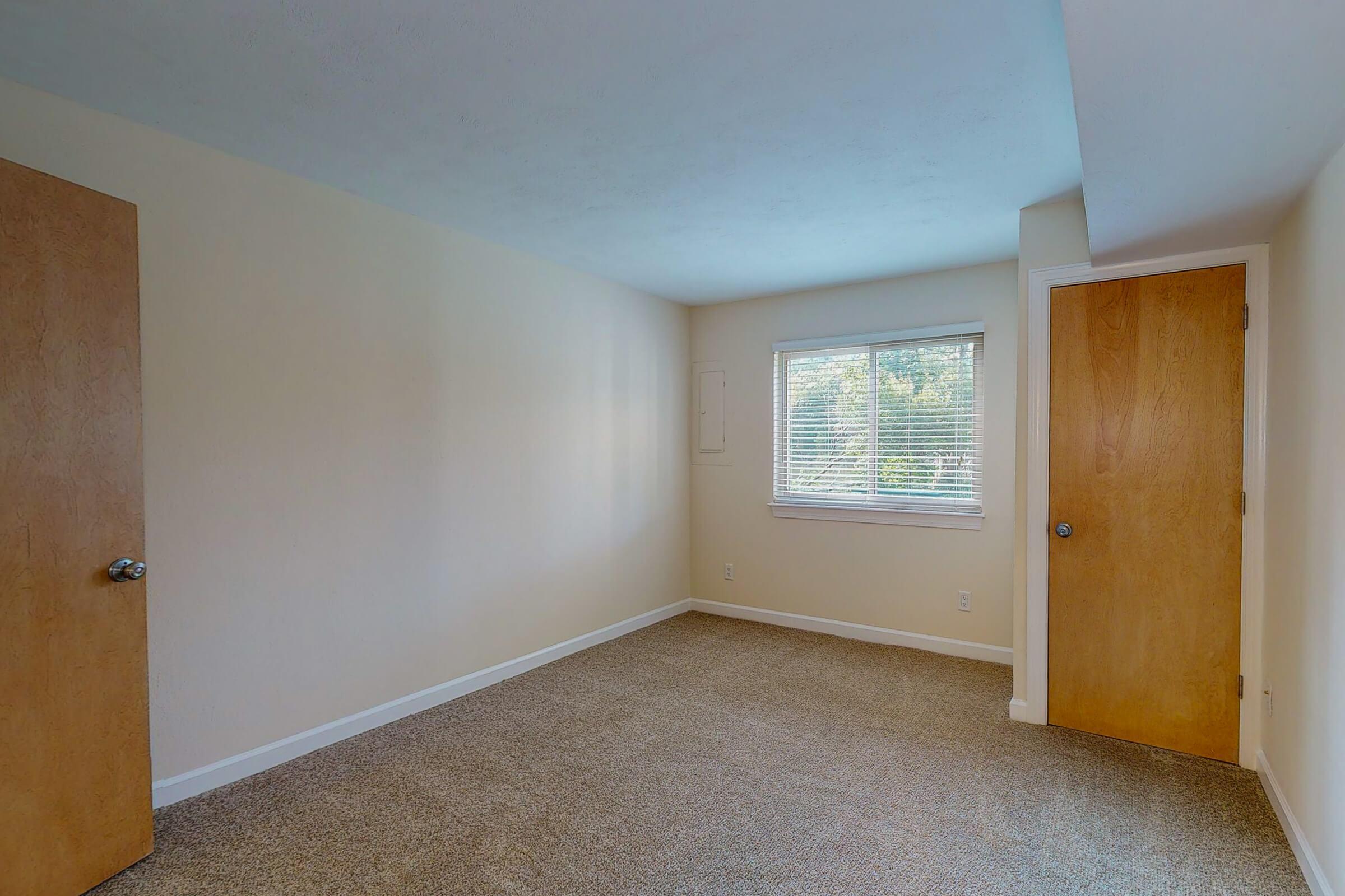 a door in a small room