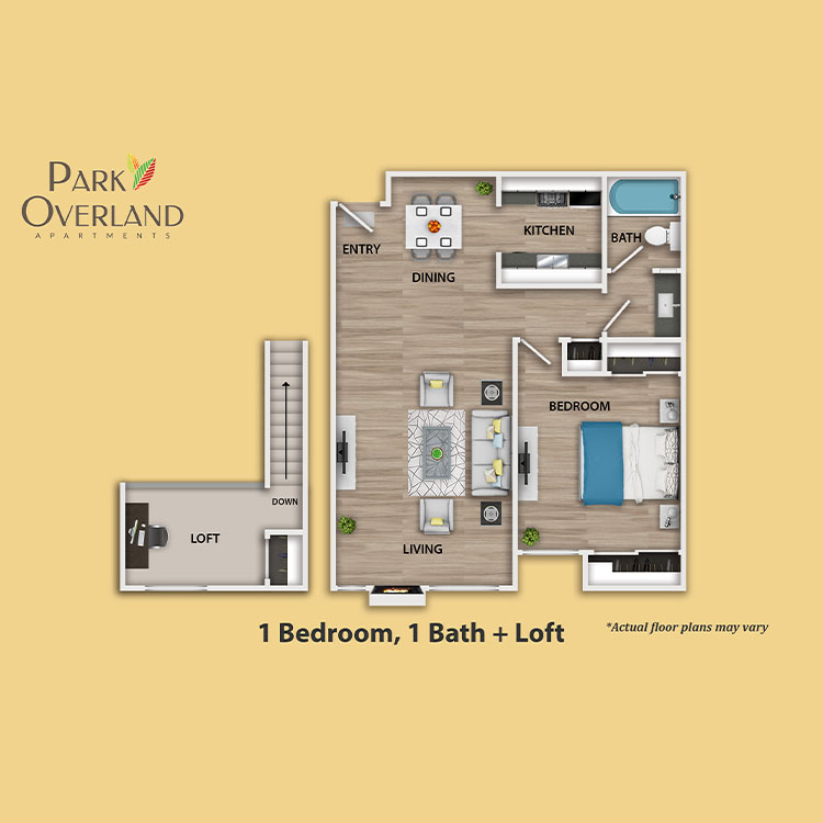 Floor plan image of 1 Bedroom + Loft