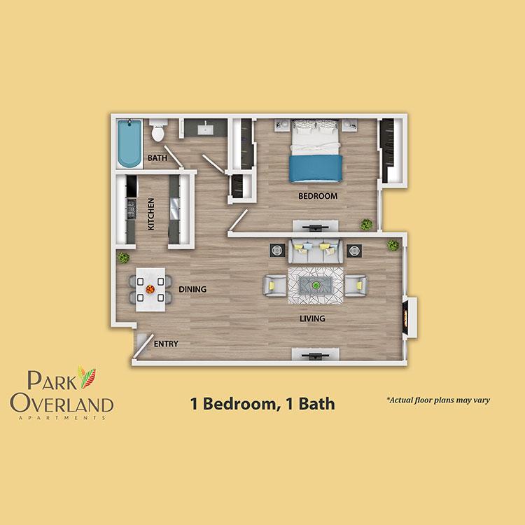 Floor plan image of 1 Bedroom Flat