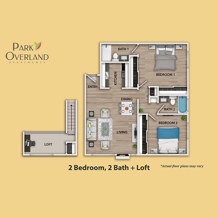 Floor plan image of 2 Bedroom + Loft