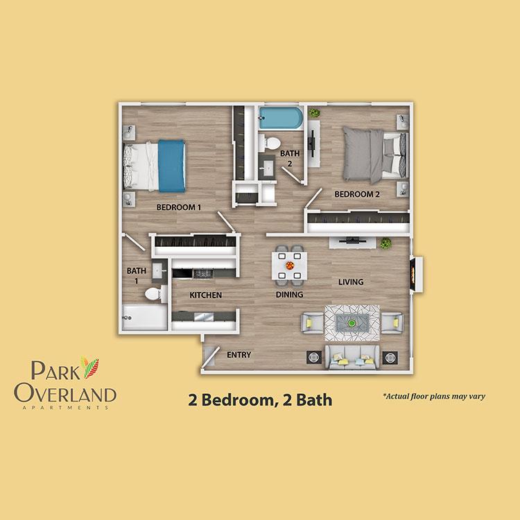Floor plan image of 2 Bedroom Flat
