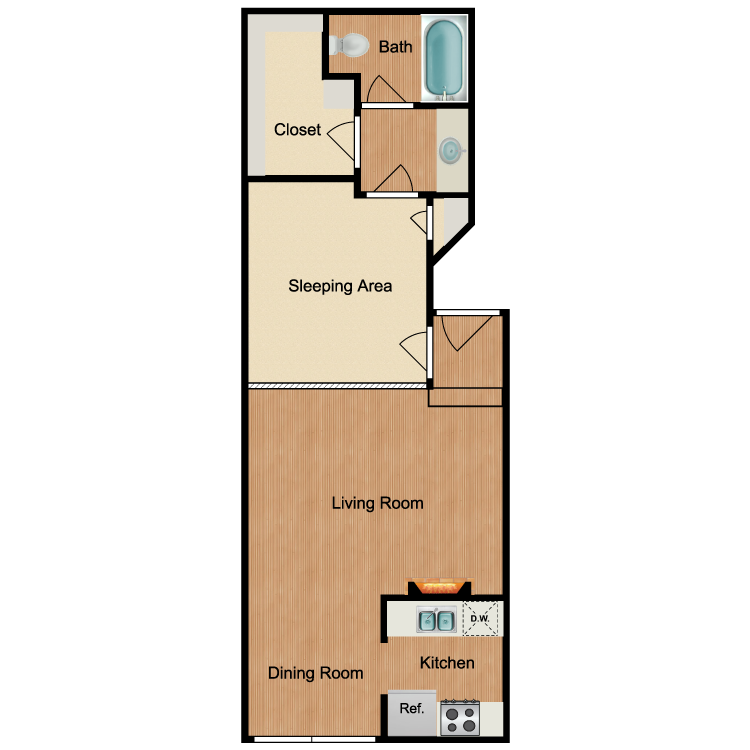 Junior 1 Bedroom. Park Overland   Availability  Floor Plans   Pricing