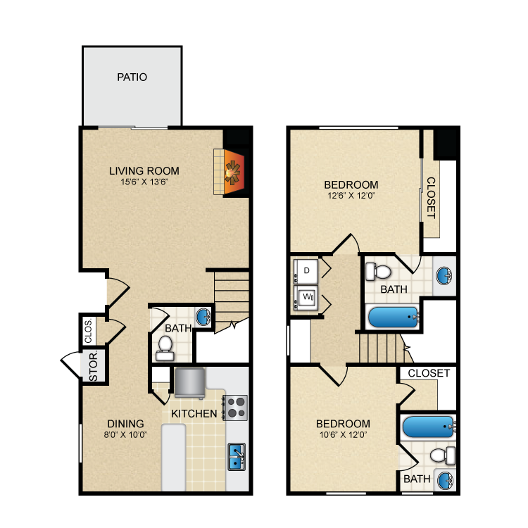 Floor plan image of B3TH