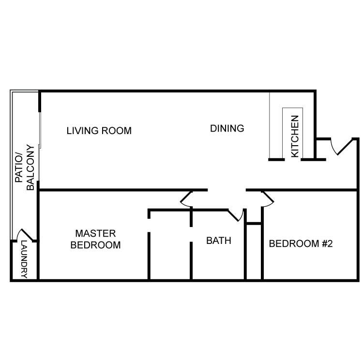 Floor plan image of 2 Bed 1 Bath