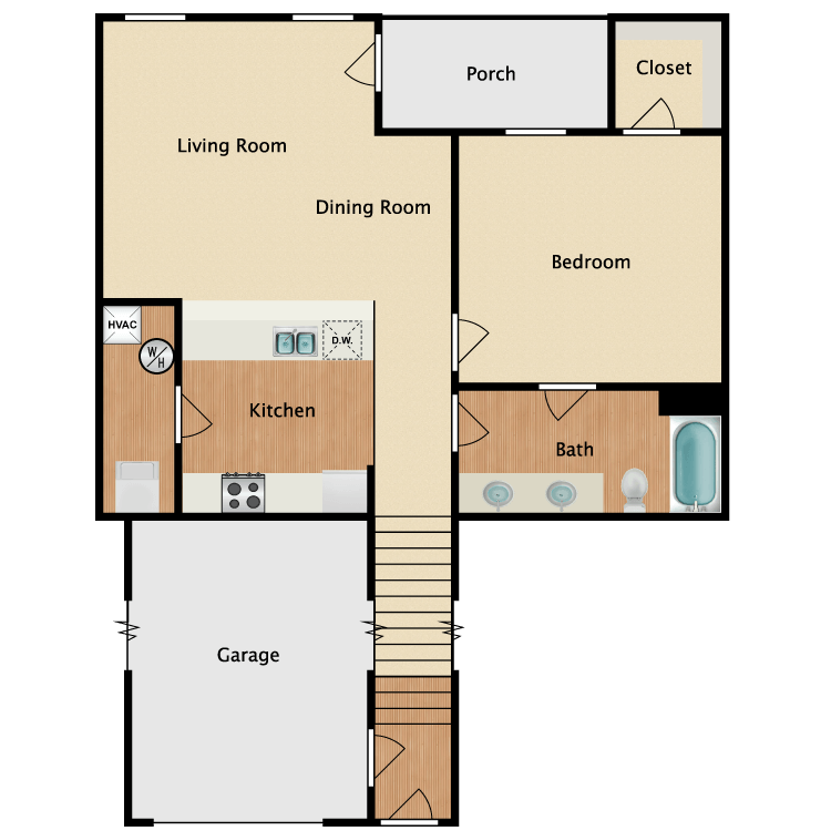 Berkley w/ Garage floor plan image