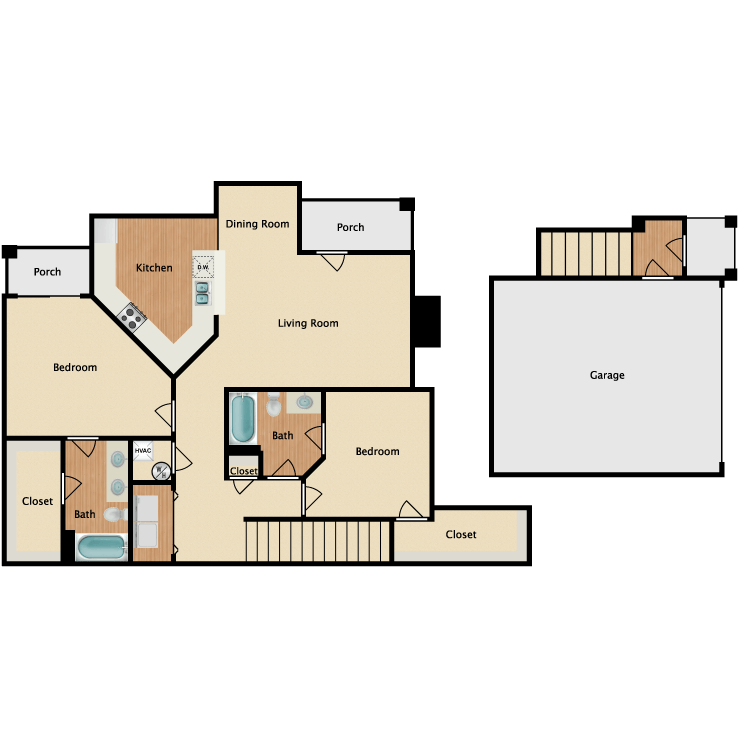 Campbell w/ Garage floor plan image