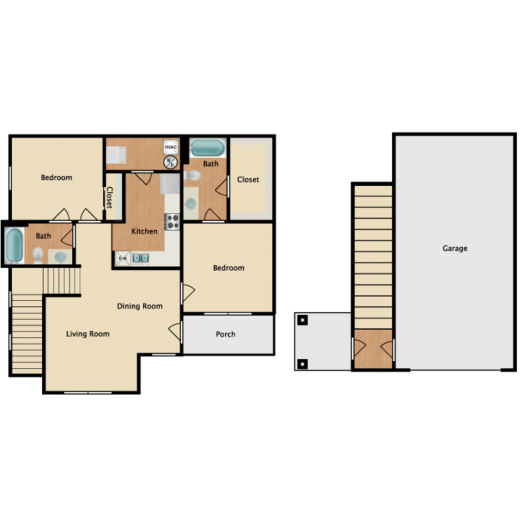 Jordan w/ Garage floor plan image