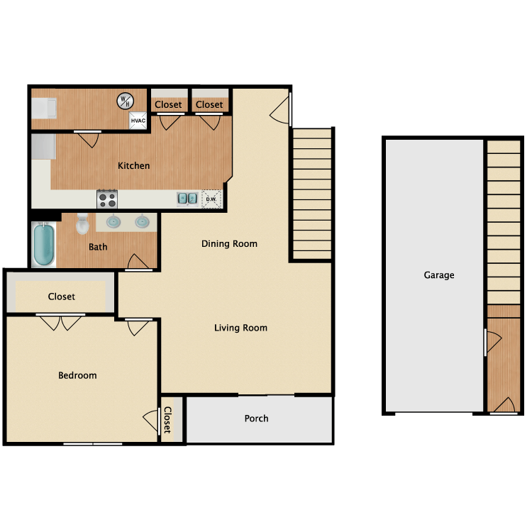Maria w/ Garage floor plan image