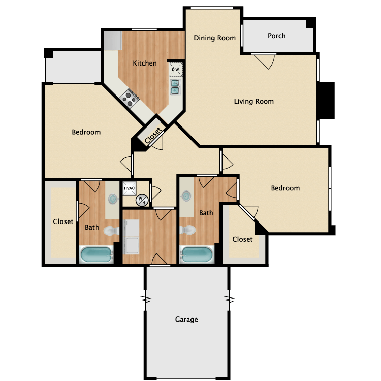 Pilar B w/ Garage floor plan image