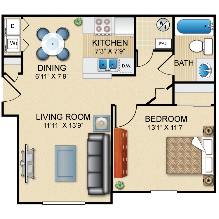 Floor plan image of The Foxfire