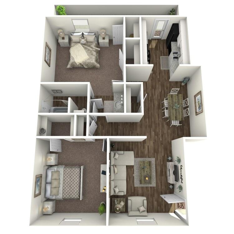 Floor plan image of B1 2x1