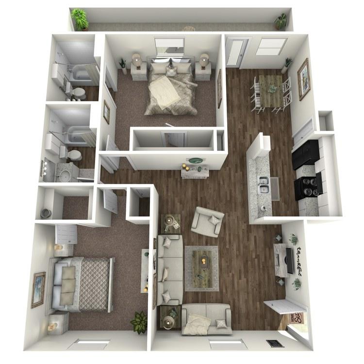 Floor plan image of B2 2X2