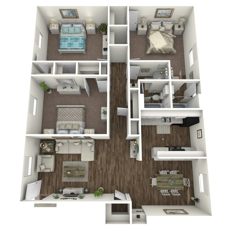 Floor plan image of C1 3X2