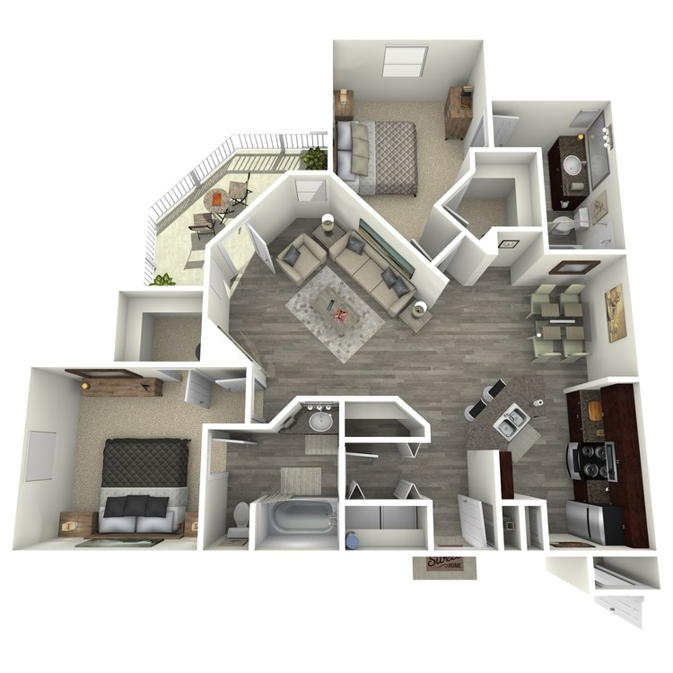 Floor plan image of B3R