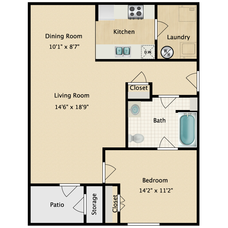 Floor plan image of The Roman