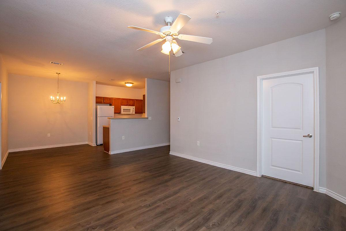 a room with a wood floor