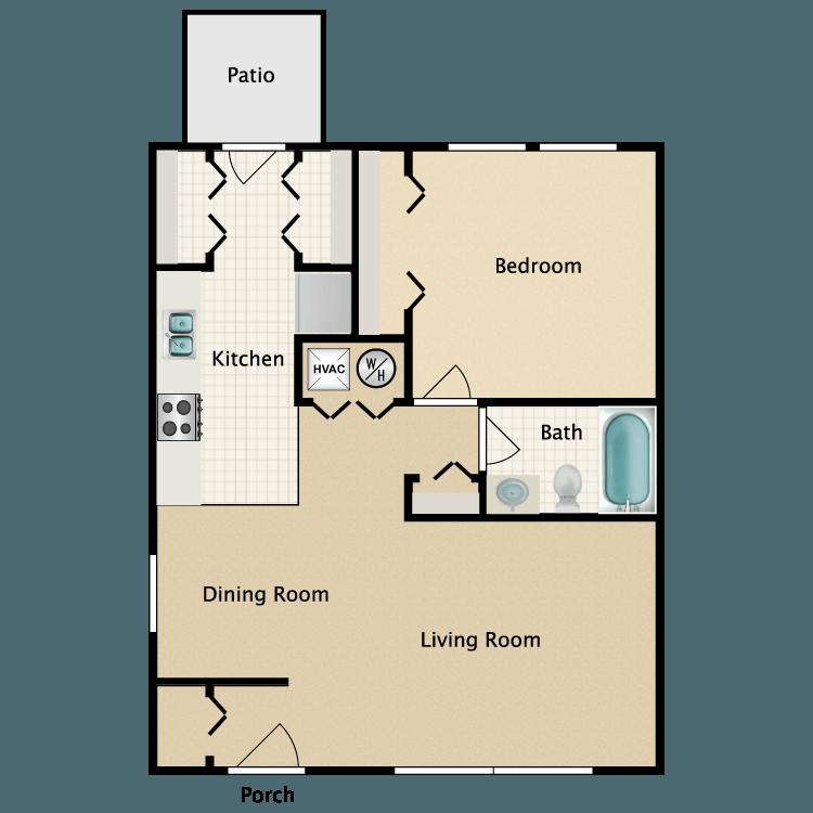 Floor plan image of 1 Bed Garden
