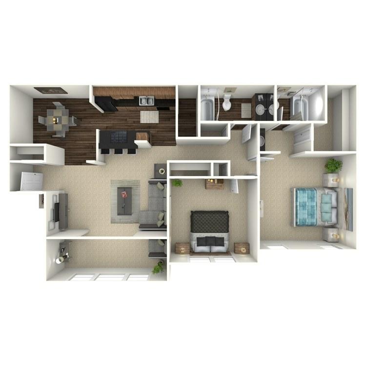 Floor plan image of The Lanier