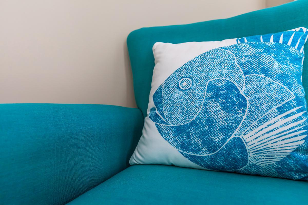 a blue blanket