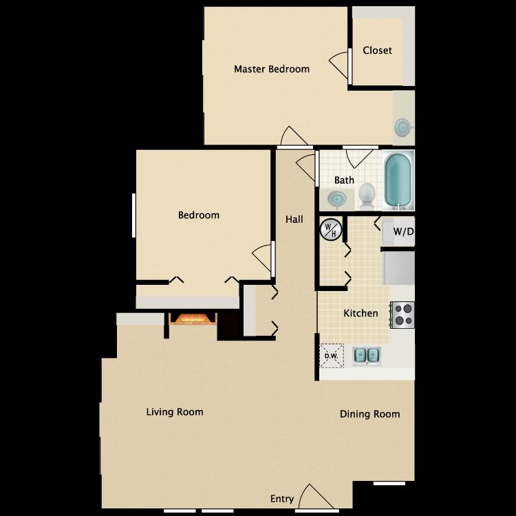 Floor plan image of 2 Bed Flat