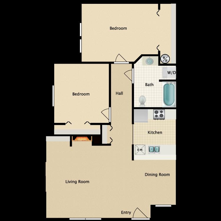 Floor plan image of 2 Bed Barrier Free