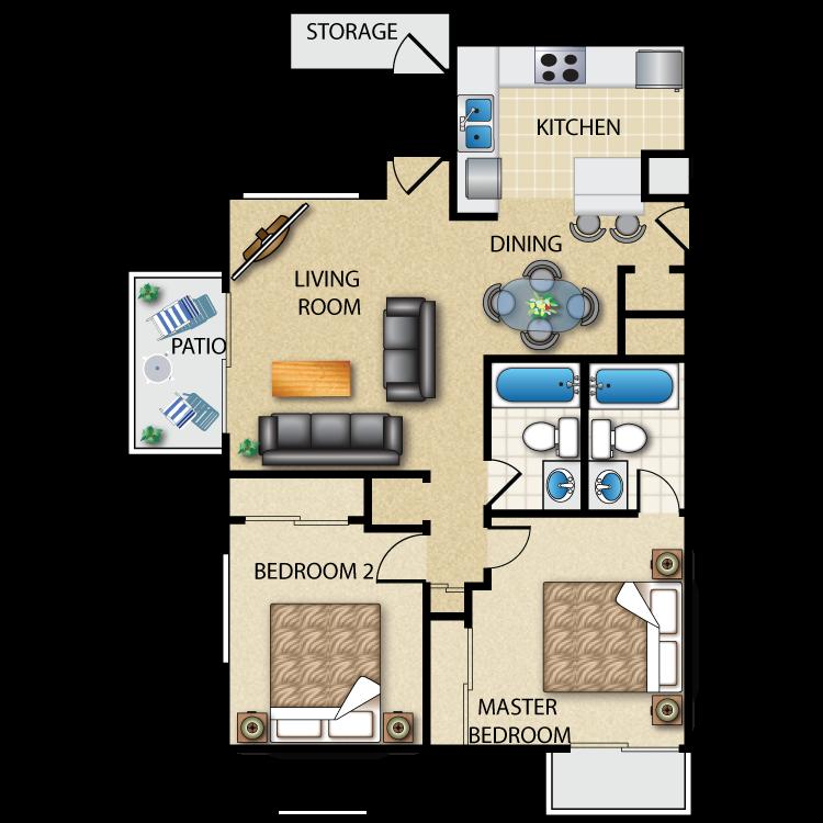 Floor plan image of The Biarritz