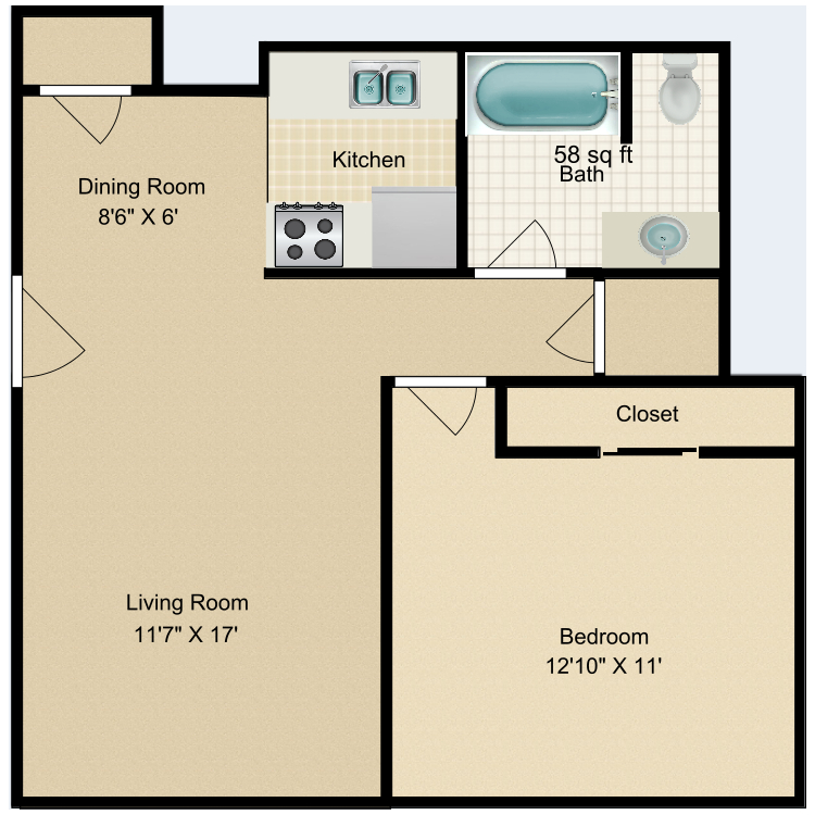 Floor plan image of Buckhorn