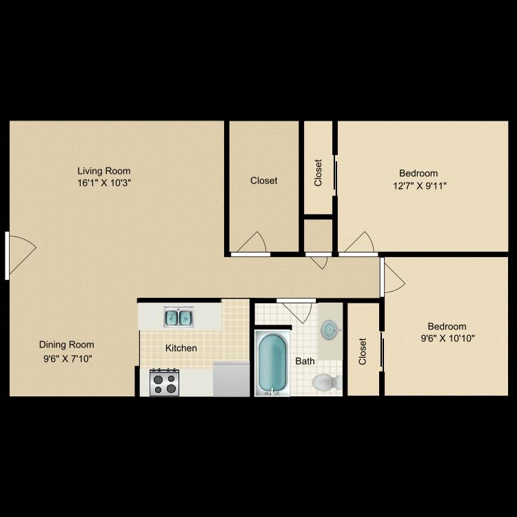 Floor plan image of Creekside