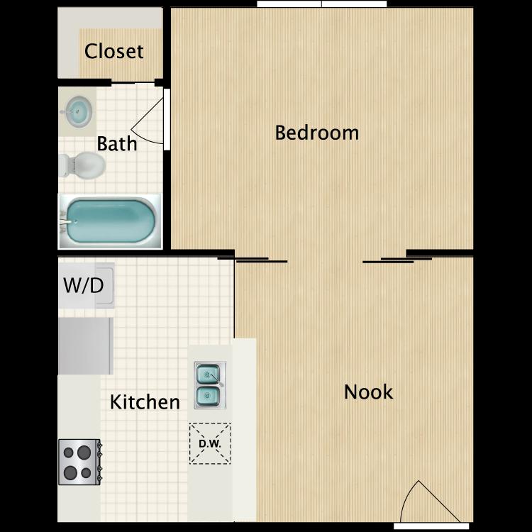 Floor plan image of Studio H