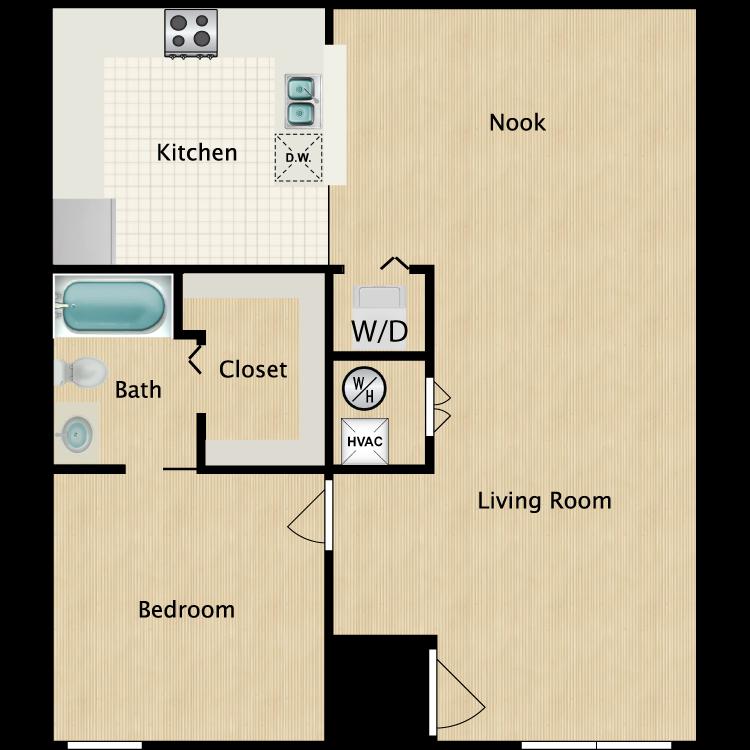 Floor plan image of 1 Bedroom G