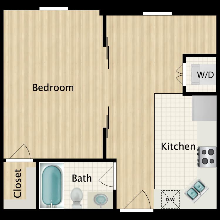 Floor plan image of Studio J